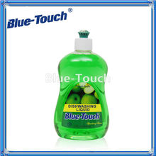 2013 New Efficient Blue-Touch Dishwashing Liquid- Green apple(827ml/500ml)Household Chemicals