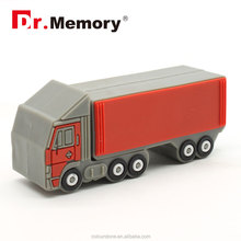 Dr.memory 2016 alibaba new products pvc/rubber/silicone truck shape usb flash drive,can custom your own shape