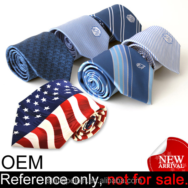 Promotion best club gift mens custom logo print cheap polyester necktie