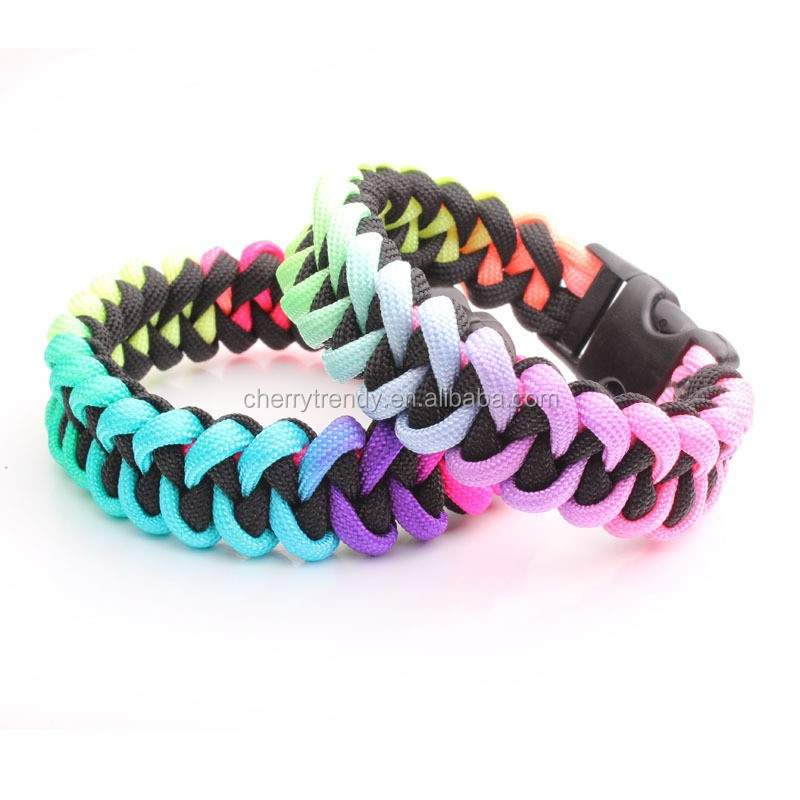 Gay Pride Rainbow Paracord Bracelet Show Your Pride Gay Lesbian LGBT