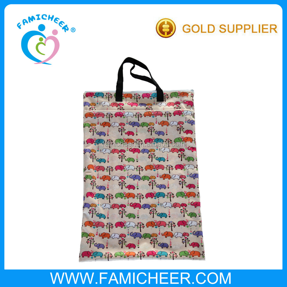 Famicheer Waterproof PUL pattern Fabric Handle Hang Diaper Pail Liner