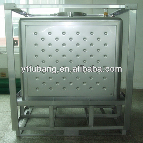 stainless steel heated storage ibc tank container