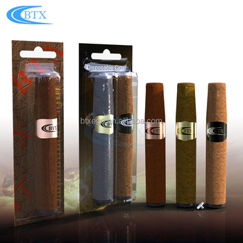 Hot selling in EU and USA Fashional big vapor e cigar Free OEM disposable cigar