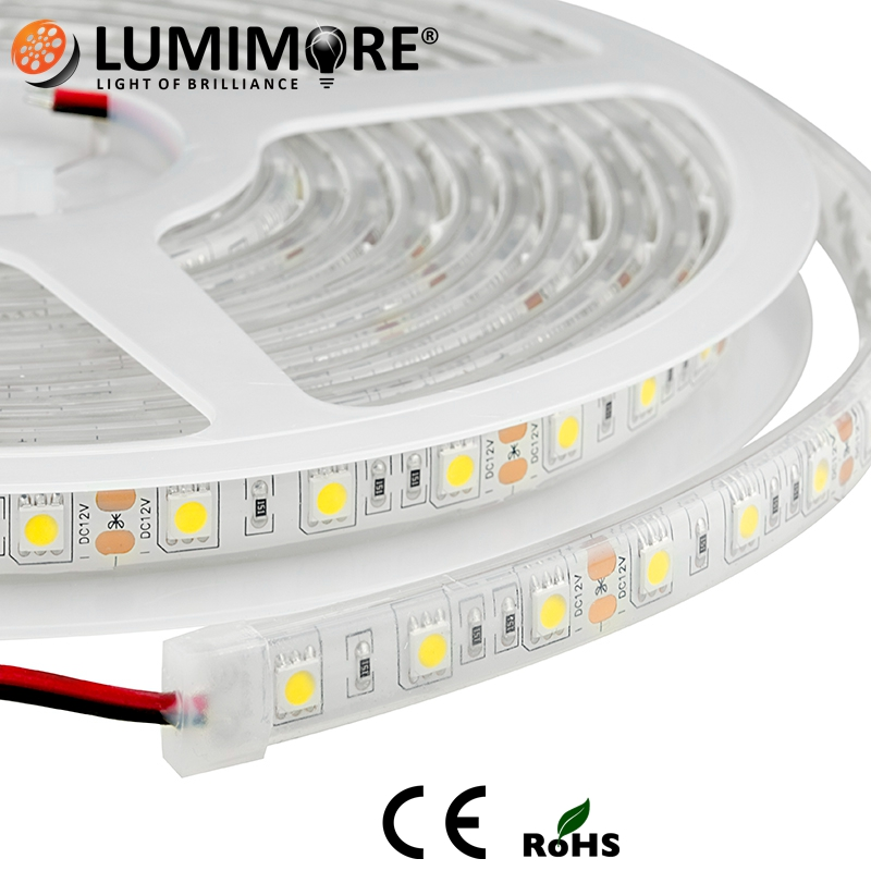 outdoor swimming pool underwater ip68 ip69 transparent flexible tube led strip light
