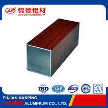 Durable wood grain coating aluminum tube for fence