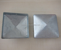 Hot Sale Square Galvanized Steel Fence Post Cap