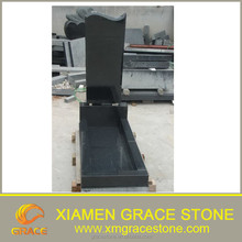 Russian Style China Absolute Black Granite Monument / Gravestone / Tombstone