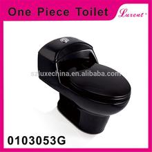 china factory black S-Trap bathroom ceramic one piece toilet seats for Latin America