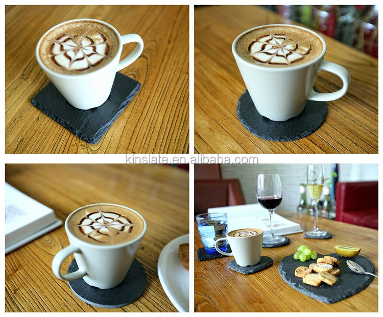 Hot black slate coaster with laser