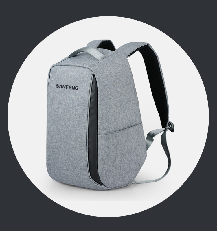 Waterproof Business Laptop Anti Theft Backpack Factory Price, OEM Polyester Travel Bobby Backpack With USB Charging Port