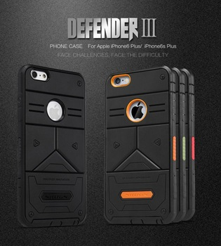 NILLKIN DEFENDER 3 Rubber Rugged Shockproof Cover Phone Case For iPhone 6s 6plus