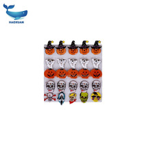 HLW0094 HAOXUAN New Halloween LED Flashing Light Brooch, Halloween Pumpkin & Ghost Light Up Toys