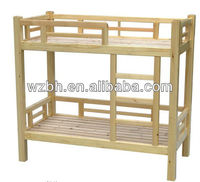 Wood school furniture, student bed