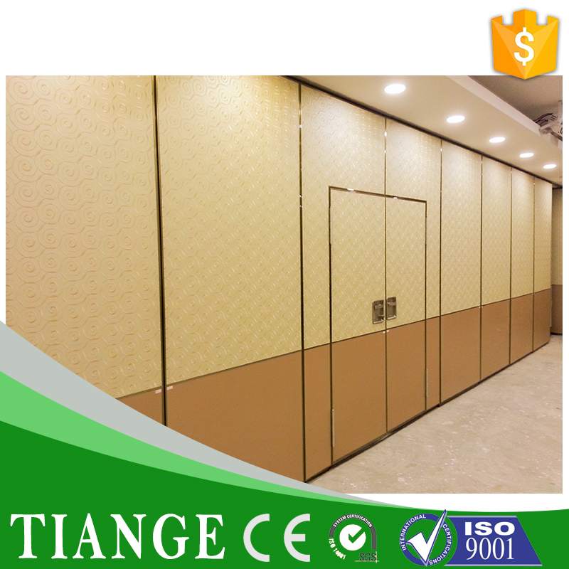 Removable and movable wooden acoustic hall divider office wall partitions