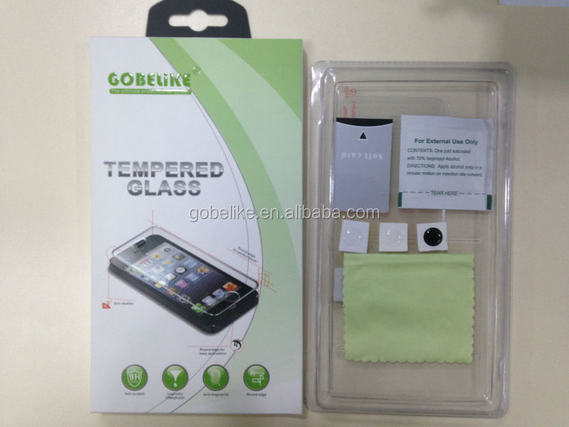 glass screen protector,9H hardness tempered glass for apple iPhone 6, 0.2mm,0.3mm,0.4mm thickness for chose