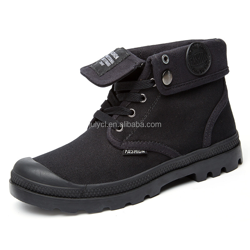 Mens Canvas casual working outdoor Shoes black Color Sneakers