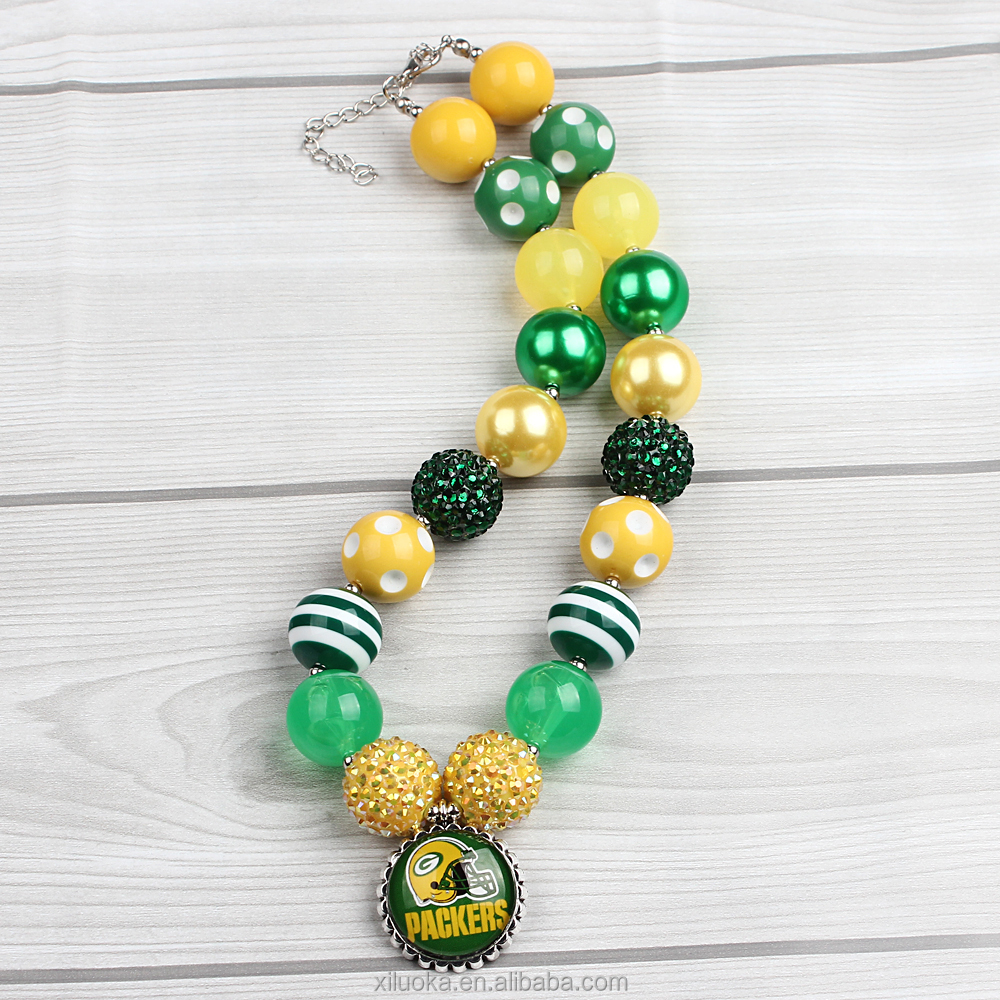 Popular Kids Jewelry Bubble gum Beads Necklaces
