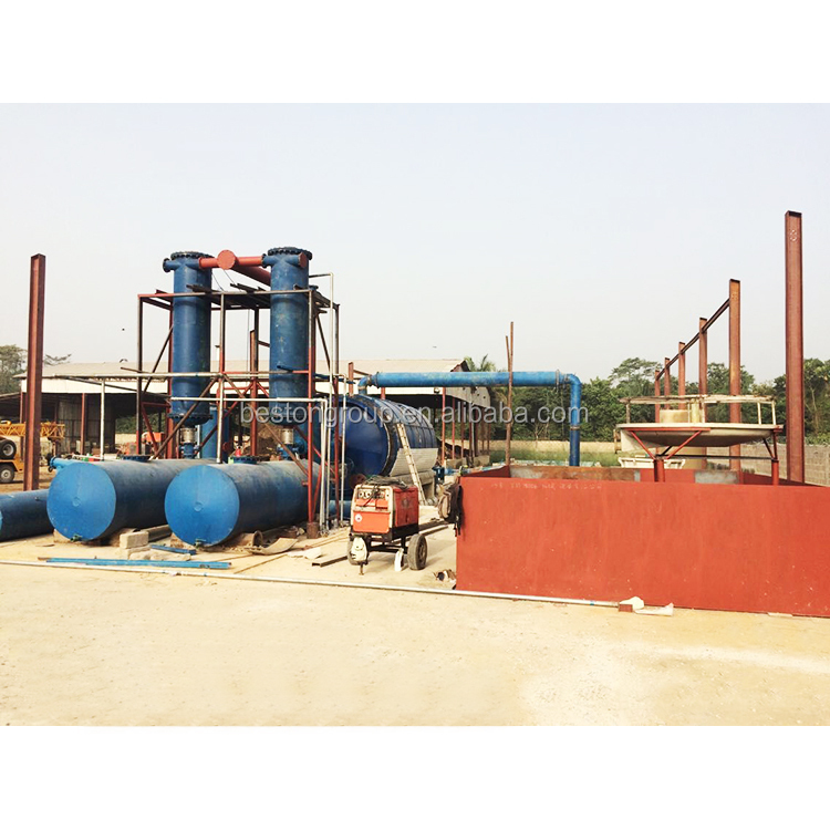 Automatic Used Tyre Oil Pyrolysis Machine plastic recycling machine germany