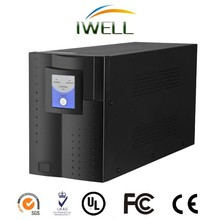 high efficiency double conversion 2000va UPS with one hour backup