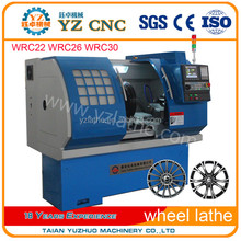 Customized twin spindle alloy wheel cnc lathe