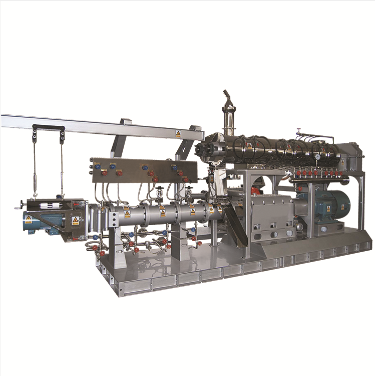 Grains materials puffed extruded dog food making machine
