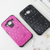 New product kickstand Bling Diamond slim armor super case cover for Samsung Galaxy Core Prime G360