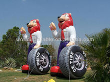 2013 Hot-Selling inflatable lion with tire for advertisment/sale