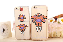 For iPhone 5/5s plus BigHero 6 Baymax TPU soft Case Animated Movies Back Cover Phone Cases