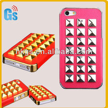 "Metal Spikes Studded Rivet Punk Glossy Leather Case For iPhone 5"" Accessories"