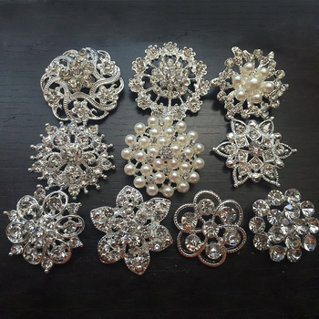 // Factory direct sale rhinestone button with pearl // decorative rhinestone buttons // BK-BUT492