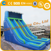Hot sale double inflatable slide , inflatable climbing slide , commercial inflatable water slide with pool