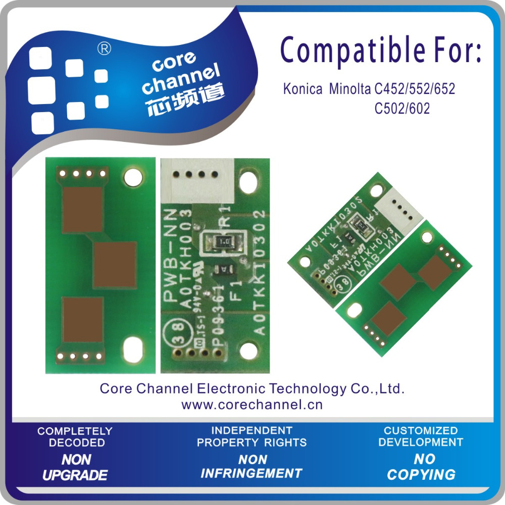 Major In Providing Konica Minolta Bizhub C452 552 652 502 602 Toner Reset Chip