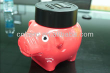 Coin counting plastic piggy banks