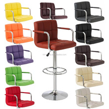 Armrest pu leather bar stool chairs for modern cheap kitchen