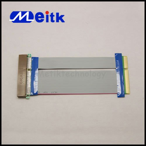 Factory wholesale PCI-E Express 8X Flex Ribbon Riser Card Extension Cable