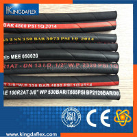 Wire Reinforced Fire - Resistant Rubber Hydraulic Hose Pipe 20mm