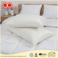 Wholesale Five Star Hotel 100% Cotton Cover Plain Duck Down Feather Pillow For Sleeping