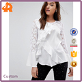china supplier manfacturer lady blouse,women fashion blouse with long sleeve lace
