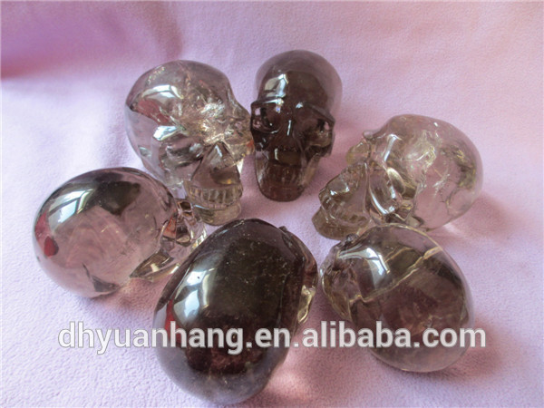 whispering wholesale smoky rock crystal quartz crystal skulls,crystal skulls
