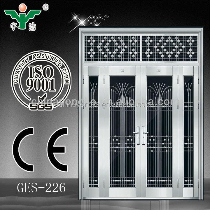 china supplier double leaf steel door price