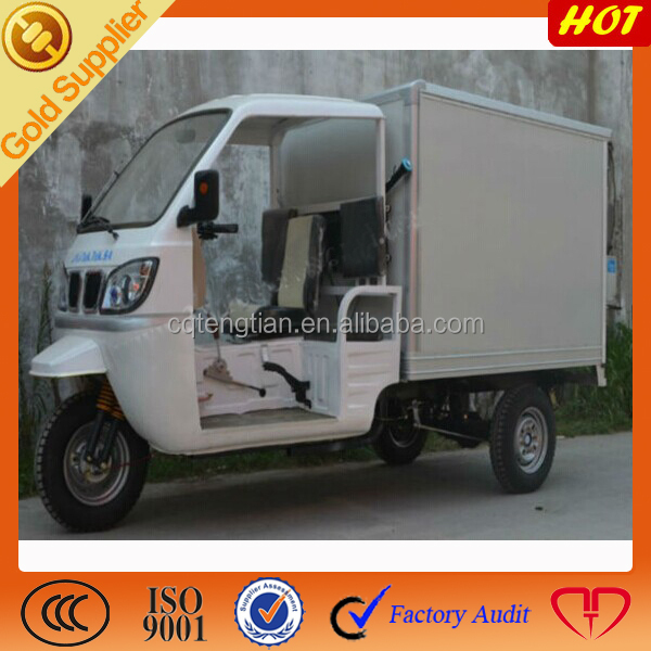 Made in China 200cc Closed Box Cabin Tricycle/closed box three wheel motorcycle