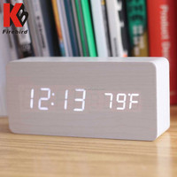 2015 popular innovative white led wooden clock personalized graduation gift
