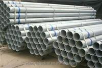 Trade Assurance pre galvanized steel pipe/8 inch schedule 40 galvanized steel pip/galvanized round steel