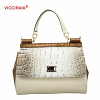 VICCIRAIA Fashion Lightcolor Snakeskin Women Handbag Small Wholesale