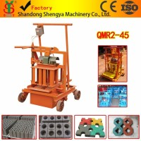 QMR2-45 mobile portable hollow block machine in China