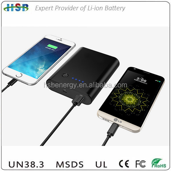 Logo OEM USB-C / Type C Input & Output 12000mAh Portable Charger QC 3.0 Qualcomm Quick Charge 3.0 External charger Power Bank