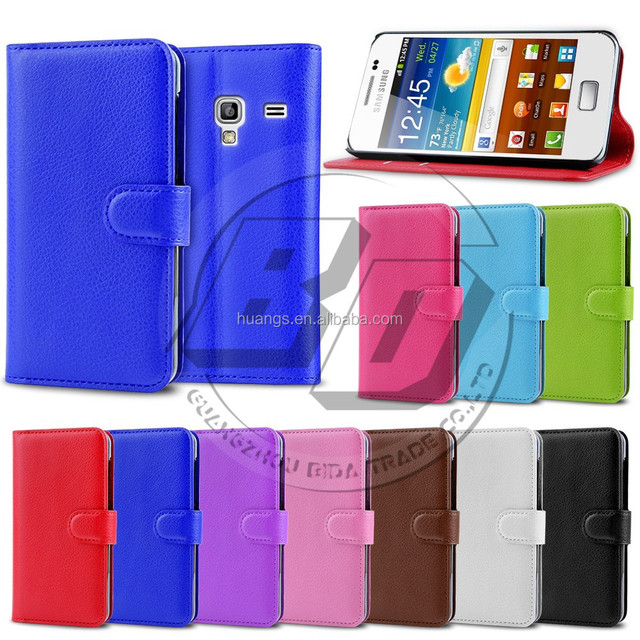 hot new products for 2015 , Pu leather wallet lychee card stand flip cover for samsung galaxy ace plus s7500