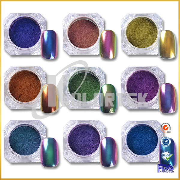 Chameleon effect car paint pigment powder, iridescent chameleon pigment powder