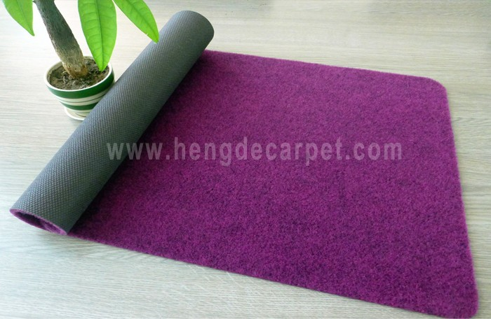 100% polyester waterproof anti-skid indoor outdoor door mat