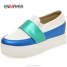 New spring platform ladies slip on sports casual shoes factory directiy supply women shoes wholesale